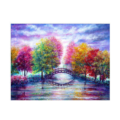 DIY Full Diamond Painting Colorful Tree Embroidery Kit Needlework Home Decor