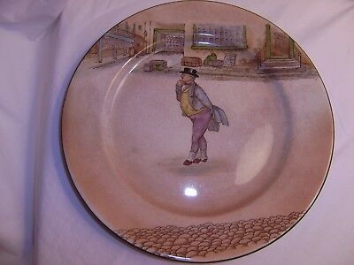 """Vintage ROYAL DOULTON 10 1/2"""" Plate  Charles Dicken's Character,  Mr. Pickwick"""
