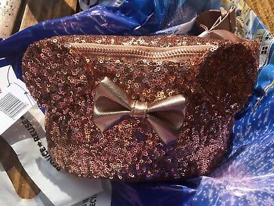 Disney Parks Exclusive Loungefly Rose Gold Minnie Mouse Fanny Pack Disneyland