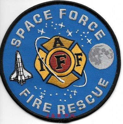 """SPACE FORCE - I.A.F.F.  Fire-Rescue  (4.5"""" round size) fire patch"""