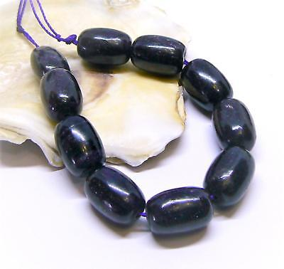 10 RARE HUGE NATURAL AFRICAN PURPLE SUGILITE BARREL BEADS 14mm 115cts AAA