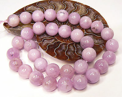 "RARE ROUND NATURAL PINK AFGHAN KUNZITE CATS EYE BEADS 16"" STRAND 495ctw 12mm"