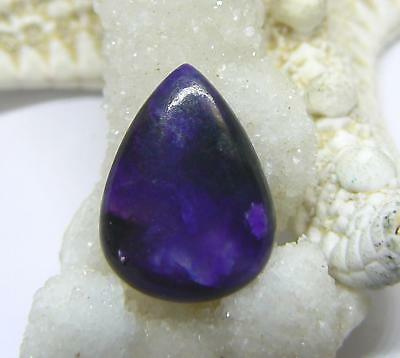 RARE NATURAL PURPLE SUGILITE PEAR CABOCHON CAB 19mm 8.1cts AAA