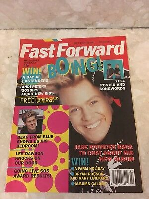 FAST FORWARD Magazine Issue 38 YELL Poster Vintage Retro 1990
