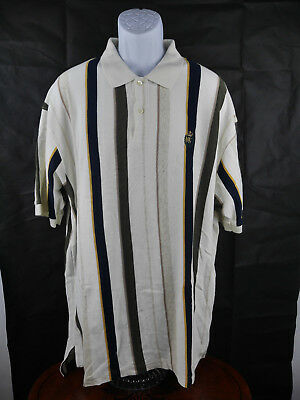 5a4b8b8764e RARE VINTAGE Chaps Ralph Lauren Crown Crest POLO Shirt Mens Stripes 2XL B9