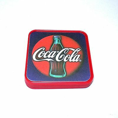1997 Coca-Cola Brand Coasters - Set of 4 - Contour Bottle Coca-Cola