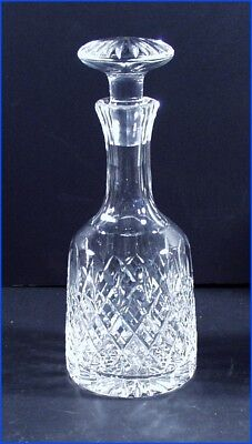 Ornate Glass Liquor Decanter With Matching Stopper