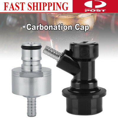 Homebrew Stainless Carbonation Cap Carbonator with Liquid Ball Lock 6 x 3cm Hot