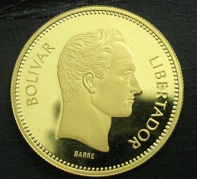 1987 Gold Venezuela 10,000 Bolivares Simon Bolivar Coin..  Gem Proof