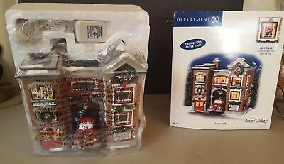 Dept 56 The Original Snow Village Firehouse #4 Rare