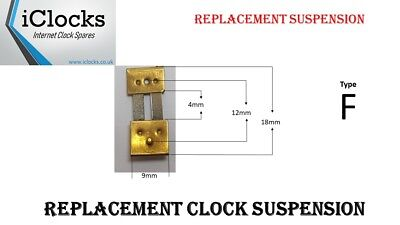 Brass Clock Pendulum Suspension Spring. (Type F) UK Seller- Quantity Listing