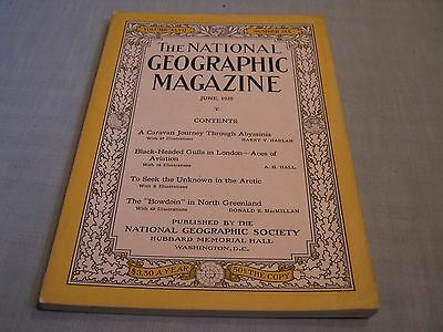 ANTIQUE NATIONAL GEOGRAPHIC June 1925 ABYSSINIA Aviation Aces of London ARCTIC