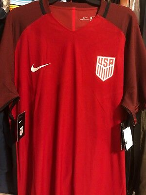02a107264c0 Authentic Nike USA Soccer Jersey Vapor Match Aeroswift Jersey Red Mens XL  NWT