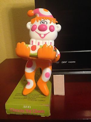 Avon Clancy the Clown Soap Holder and Soap - 1973