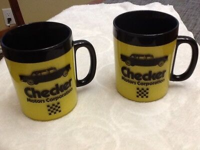 CHECKER MOTORS CORPORATION Vintage Thermo-Serv Coffee Cups (set Of 2)