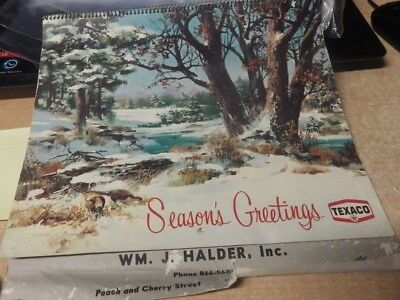 Vintage Texaco Gas 1969 Calendar Seasons Greetings Christmas Gas & Oil  Erie Pa