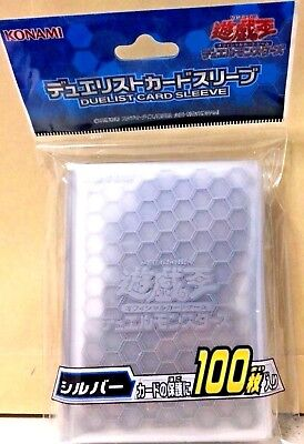 Yugioh Official Card Sleeve Protector: Clear Silver / 100pcs japan