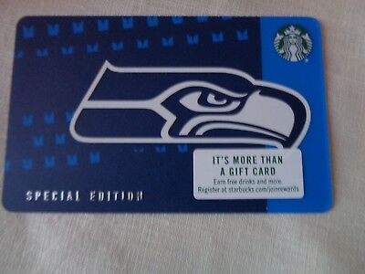 Starbucks 2018 SEATTLE SEAHAWKS Gift Card with NFL Hologram