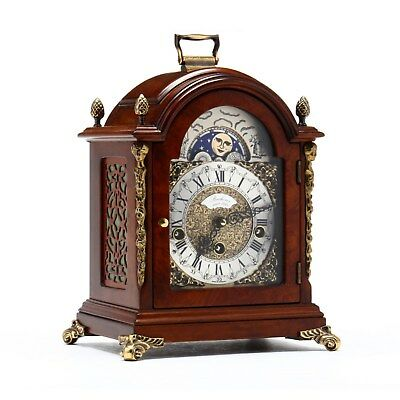 Bucherer Mantle Bracket Shelf Clock Moonphase Old Westminster Chime