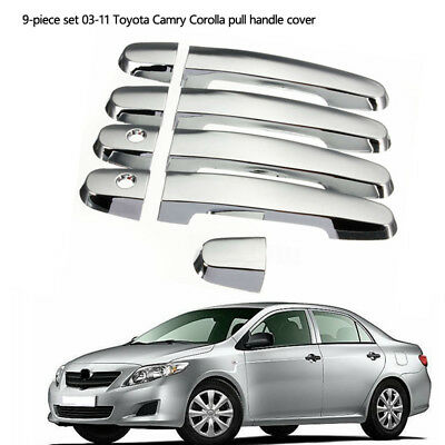 4DR Set Chrome Door Handle Cover For Toyot RAV4 Prius Camry Yaris Corolla 03-11