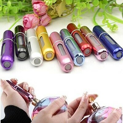 3x Mini Refillable Perfume Atomizer Bottle Travel Scent Pump Portable Spray Case