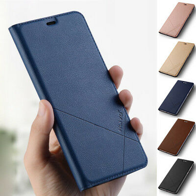 For Huawei Y9 Y7 Y6 Y5 Prime 2018 Case Slim Leather Flip Card Wallet Stand Cover