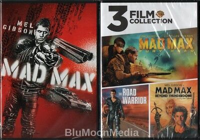 Mad Max 1 2 3 4 DVD Lot Complete 4 Movie Collection Fury Road Road Warrior + NEW