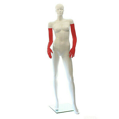LatexDreamwear- 100% Latex rubber Handschuhe superlang  rot getaucht 0.4