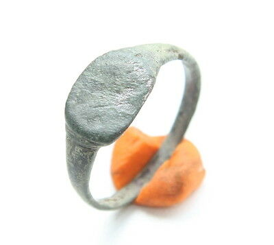 Ancient Old Medieval Bronze Ring (JJJ55)