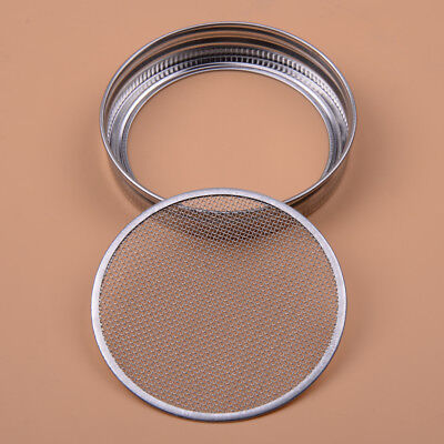 Stainless Filter Lid Strainer Sprouting Silver for Wide Mouth Mason Canning Jar