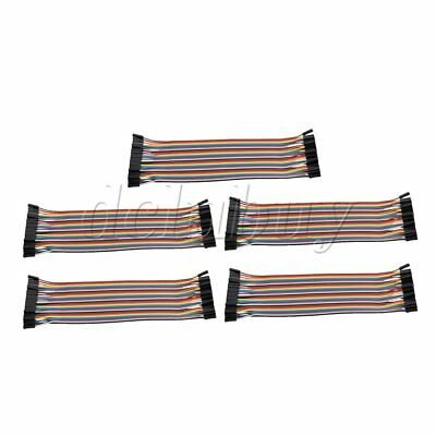 5pcs 40Pin Cable Female to Female Ribbon Wire Connector 11.5x5.5cm