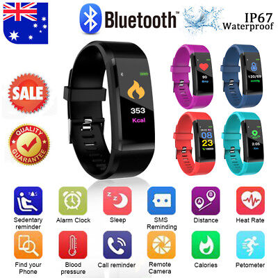 Smart Watch Fitness Heart Rate Monitor Sport Bracelet Pedometer Activity Tracker
