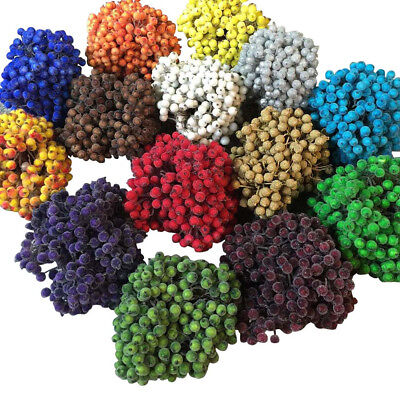 200pcs Mini Christmas Foam Frosted Fruit Berry Artificial Flower Home Tree Decor