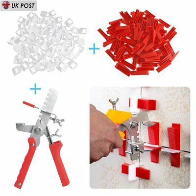 Tile Leveling Spacer System Tool 300 Clips & 100 Wedges & Pliers Tiling Flooring