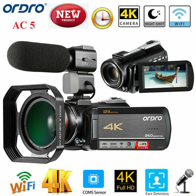 ORDRO AC5 Professional UHD 4K 3.1 inch IPS Touch Screen Video Camera Camcorder S