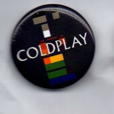 COLDPLAY X&Y BUTTON BADGE British Rock Band - Speed Of Sound - Fix You 25mm Pin