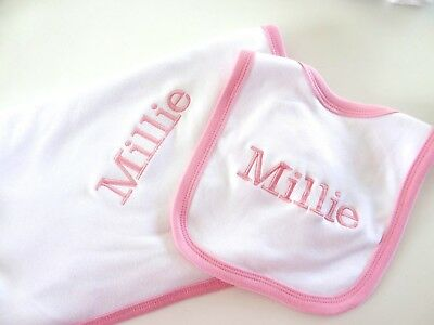 White//Blue//Pink Personalised Gift QUEENS PARK RANGERS//QPR Football Baby Bib