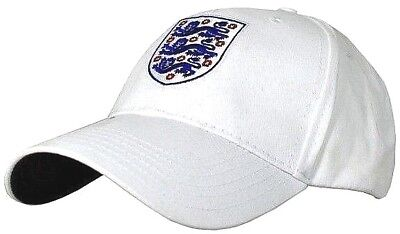 England Fa White Adult Embroidered Crest Adjustable Three Lions Baseball Cap