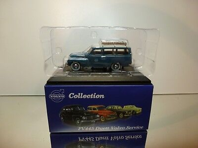 Atlas Collection Volvo Pv445 Duett Volvo Service - Blue 1:43 - Excellent In Box