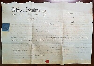 1818 Vellum Indenture Lee Compere to James Cother Farm in Broadwell, Gloucester