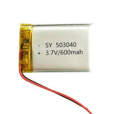 Recharged 3.7V 600mAh 503040 Battery For MID DVD GPS PDA Bluetooth Pen