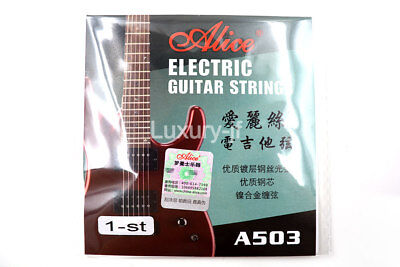 5pcs Alice A503 Electric Guitar Strings Plated Steel Strings 1st String 009in.