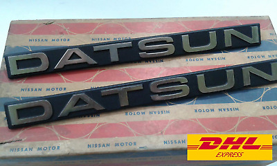 DATSUN TRUCK 720 Pick-UP Front Fender Emblem Badge Genuine NOS  =  1PAIR
