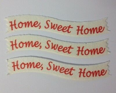 25 Home Sweet Home Banner New House Card Making Scrapbook Craft Embellishments