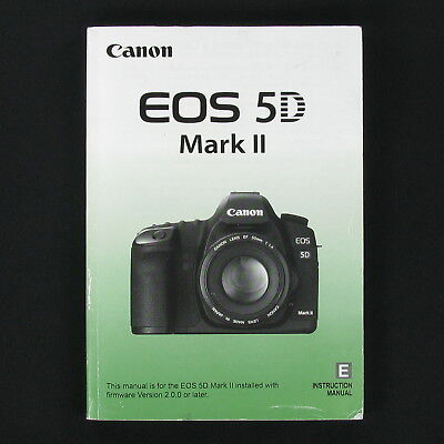 Canon Eos 5d Mark Iii Genuine Instruction Owners Manual 5d Iii Book