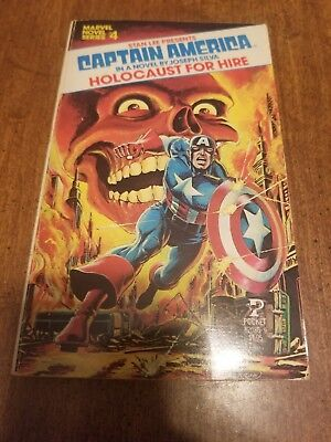 Marvel Novel Series #4 CAPTAIN AMERICA in HOLOCAUST FOR HIRE (1979) 1st PRINT