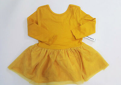 NWT Old Navy Size 18 24 Months 2t 3t 4t or 5t Mustard Yellow Ballet Tutu Dress