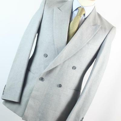 03613f2782ff St Michael Mens Grey Double Breasted Suit Jacket 40 Chest (Short)