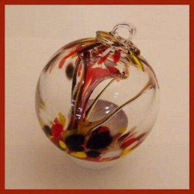 "Hanging Glass Ball 3"" Diameter ""Autumn Tree"" Witch Ball (1) 3IN#112"
