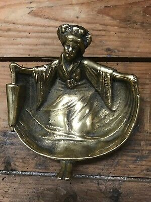 Vintage Antique Heavy Brass Risque Japanese Woman Paperweight Erotic Collectable